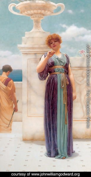 John William Godward - The Engagement Ring