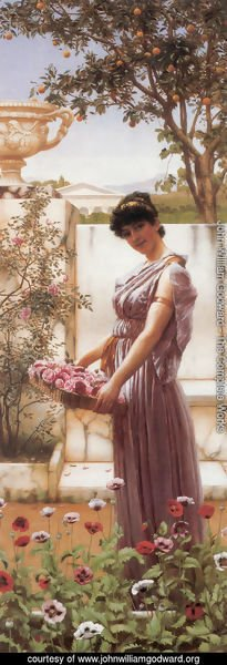 John William Godward - The Flowers Of Venus