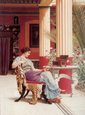 John William Godward - The Jewel Casket