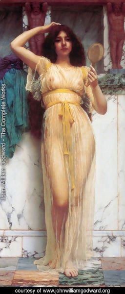 John William Godward - The Mirror