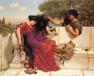 John William Godward - The Old Old Story