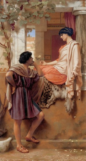 John William Godward - The Old Old Story Ii
