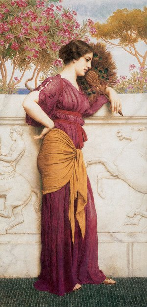 John William Godward - The Peacock Fan