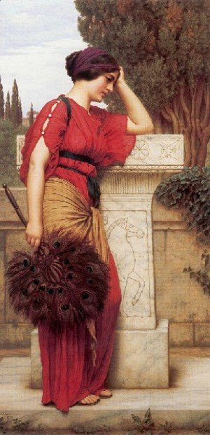 John William Godward - The Thinker