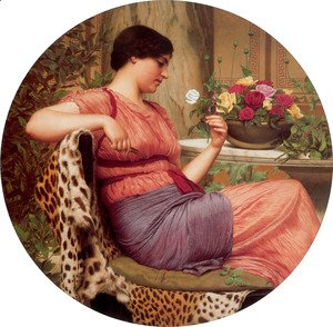 John William Godward - The Time Of Roses
