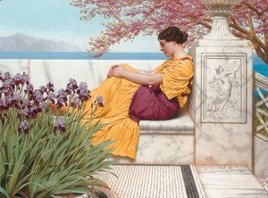 John William Godward - Under The Blossom That Hangs On The Bough