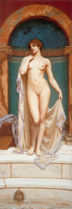 John William Godward - Venus At The Bath
