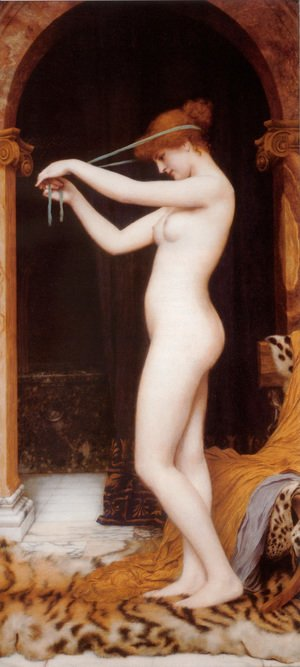 John William Godward - Venus Binding Her Hair